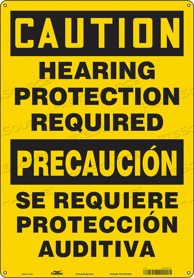 SAFETY SIGN 14 W 20 H 0.060 THICKNESS by Condor