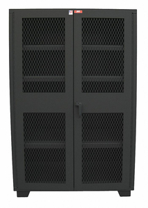 SHELVING CABINET 78 H 48 W BLACK by Jamco