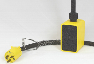 PENDANT DROP OUTLET BOX, 25 FT, 20 A, 125 VAC, 12 AWG, NEMA 5-20P TO NEMA 5-20R, YELLOW by KH Industries