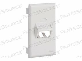PANDUIT MINI-COM ULTIMATE ID SLOPED SNAP-ON FACEPLATE - FACEPLATE - OFF WHITE by Panduit