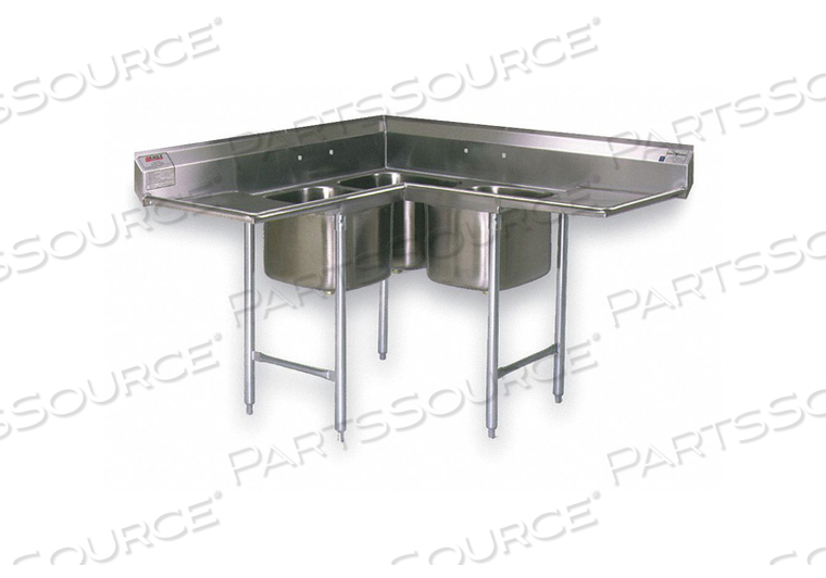 CORNER SCULLERY SINK FLOOR 59-3/4 IN L by Eagle Group