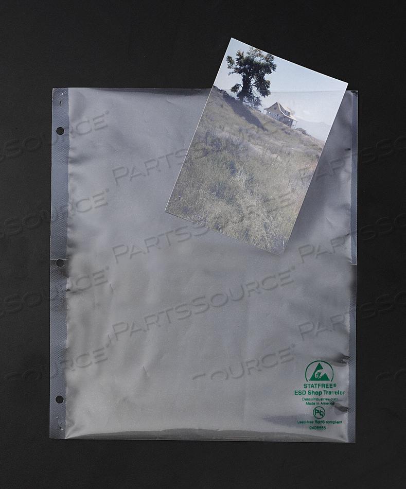 SHIELDING BAG 9-1/2 11 OPEN 3MIL PK100 by Desco
