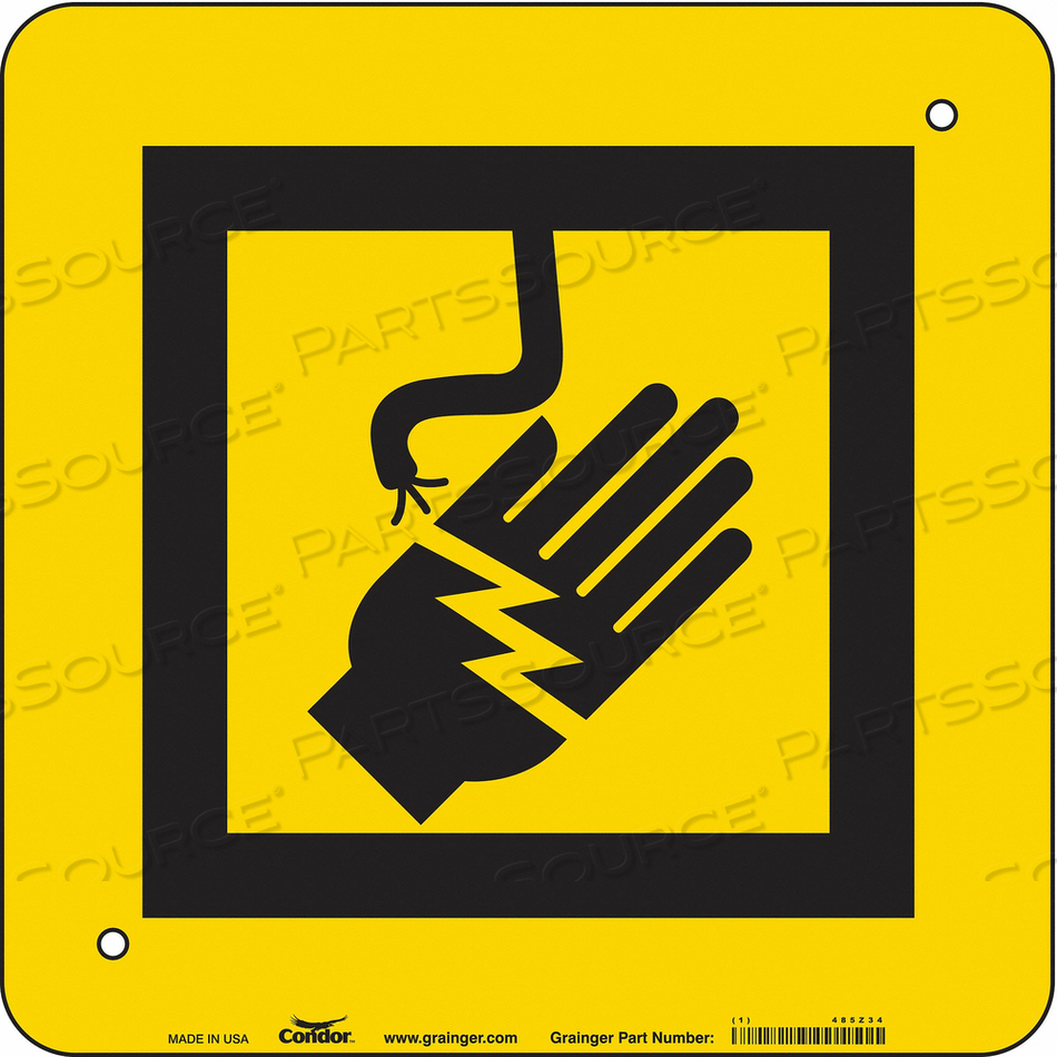 ELECTRICAL SIGN 14 W 14 H 0.055 THICK by Condor