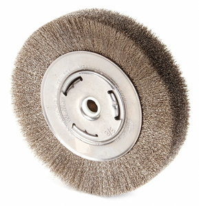 CRIMPED WIRE WHEEL BRUSH ARBOR 6 IN. by Weiler