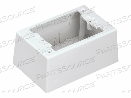 PANDUIT SINGLE GANG TWO-PIECE SCREW TOGETHER INTERMEDIATE OUTLET BOX - CABLE RACEWAY JUNCTION BOX - WHITE by Panduit