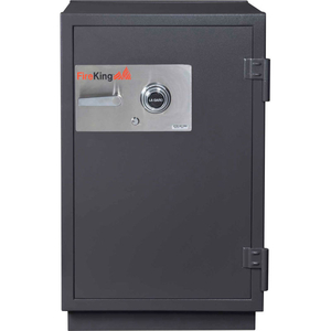 IMPACT & BURGLARY SAFE KR3121-2, 2-HOUR FIRE RATING 25-1/2 X 28-7/8 X 41-1/8 GRAPHITE by Fire King