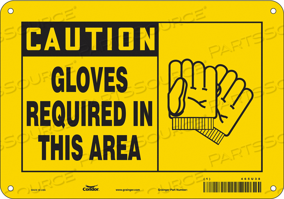 SAFETY SIGN PERSONAL PROTECTION 7 H by Condor