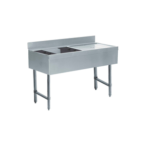 CHALLENGER ICE BIN/COCKTAIL STATION, 48X21X8, W/COLD PLATE. R DRAINBOARD by Advance Tabco