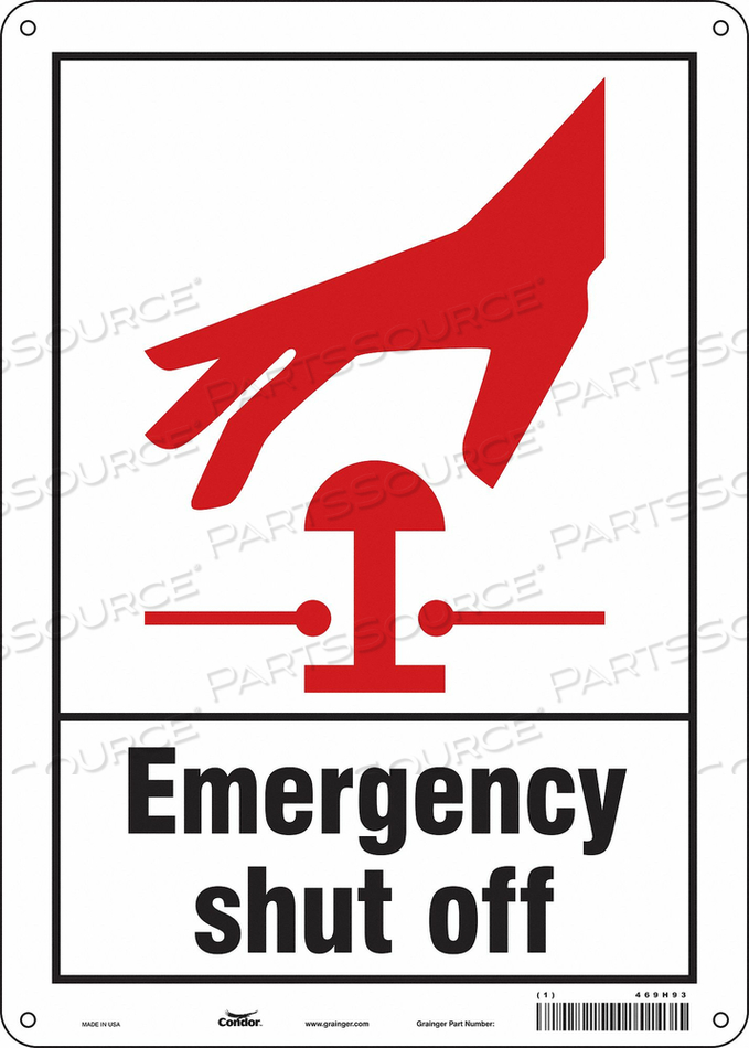 SAFETY SIGN 10 W 14 H 0.032 THICKNESS by Condor