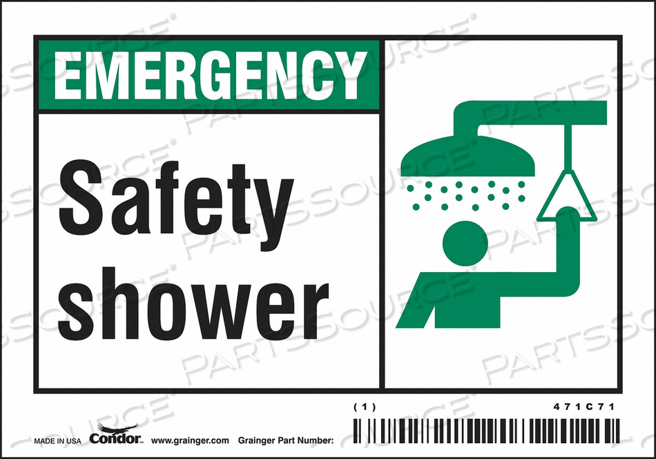 SAFETY SIGN 5 W X 3.5 H 0.004 THICK by Condor