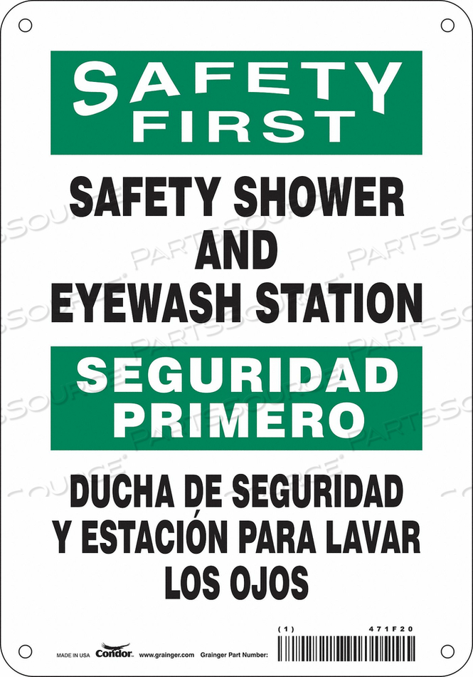 SAFETY SIGN 7 W X 10 H 0.032 THICK by Condor
