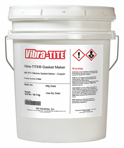 GASKET SEALANT 4.5 GAL. COPPER by Vibra-Tite