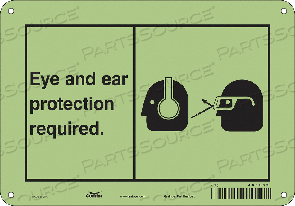 SAFETY SIGN 10 WX7 H 0.070 THICKNESS by Condor