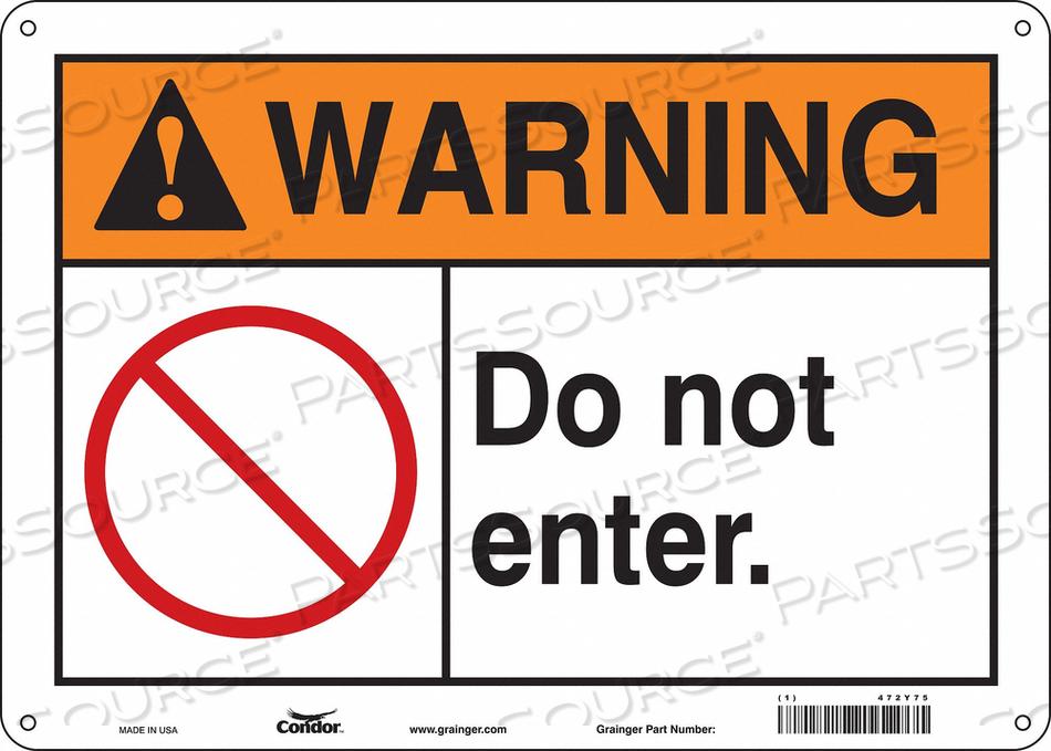 SIGN DO NOT ENTER. W/SYMBOL 10 X14 by Condor