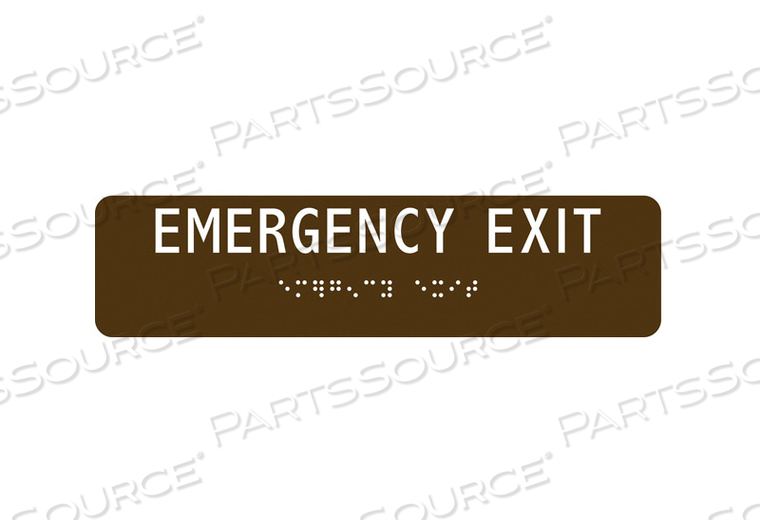 SAFETY SIGN EMERGENCY EXIT 2 X8 by Condor