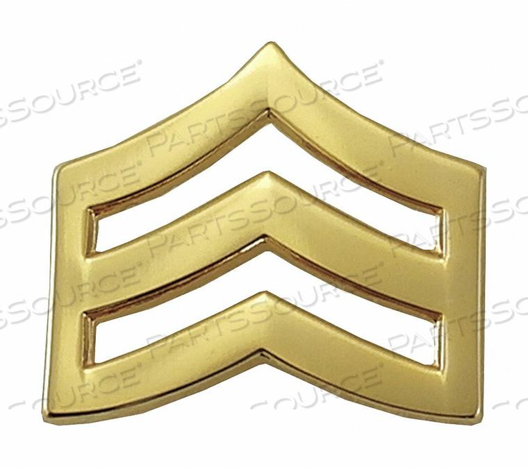 METAL RANK INSIGNIA SGT. CHEVRON GOLD PR by Heros Pride