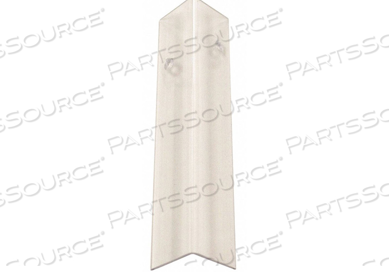 CORNER GUARD CLEAR DRILLED 2-1/2X48 IN. by Pawling Corp