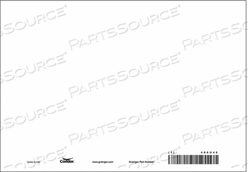 SAFETY SIGN 10 W 7 H 0.320 THICK PK10 by Condor