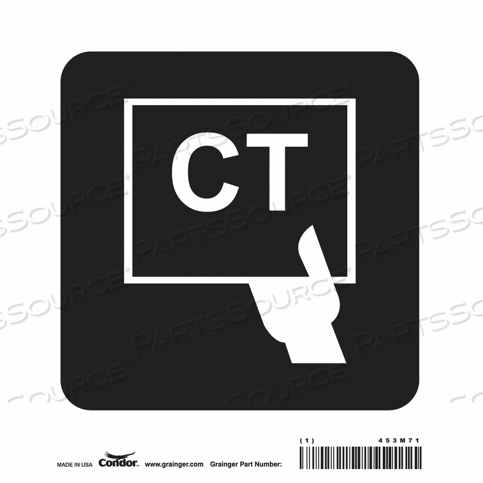 HOSPITAL SIGN 8 H X 8 W 0.004 THICK by Condor