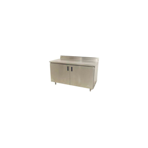"""14 GAUGE WORK TABLE 304 STAINLESS TOP - 5"""" BACKSPLASH & BASE CABINET 96 X 30 by Advance Tabco"""