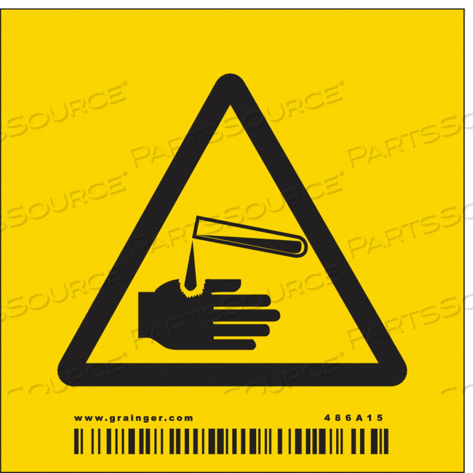 CHEMICAL SIGN 3 W 3 H 0.004 THICKNESS by Condor