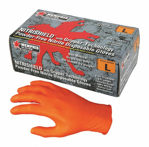 DISPOSABLE GLOVES NITRILE M PK100 by MCR Safety