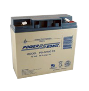 BATTERY, SEALED LEAD ACID, 12V, 18 AH, FASTON (F2) by Power Sonic