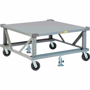 ADJ. HEIGHT PALLET STAND - 48 X 48 SOLID DECK & LOAD RETAINERS by Little Giant