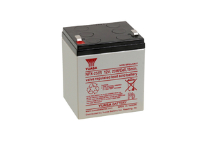 BATTERY, SEALED LEAD ACID, 12V, 5 AH, FASTON (F1) by ENERSYS