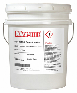 GASKET SEALANT 4.5 GAL. RED by Vibra-Tite