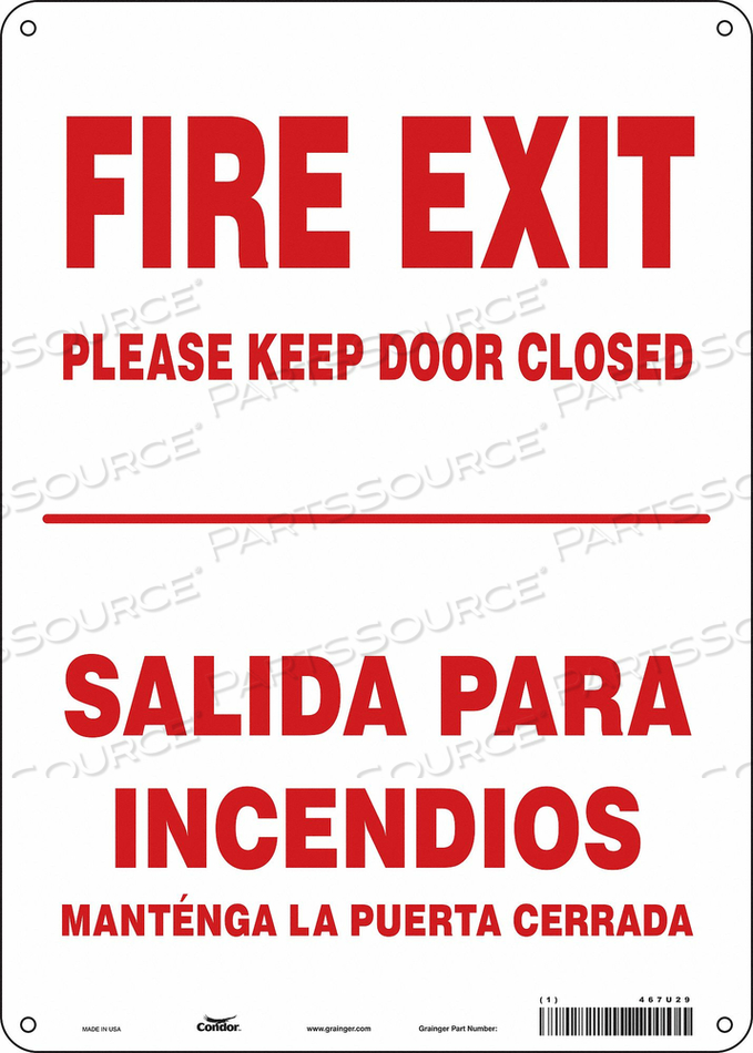 SAFETY SIGN 14 X10 ALUMINUM by Condor