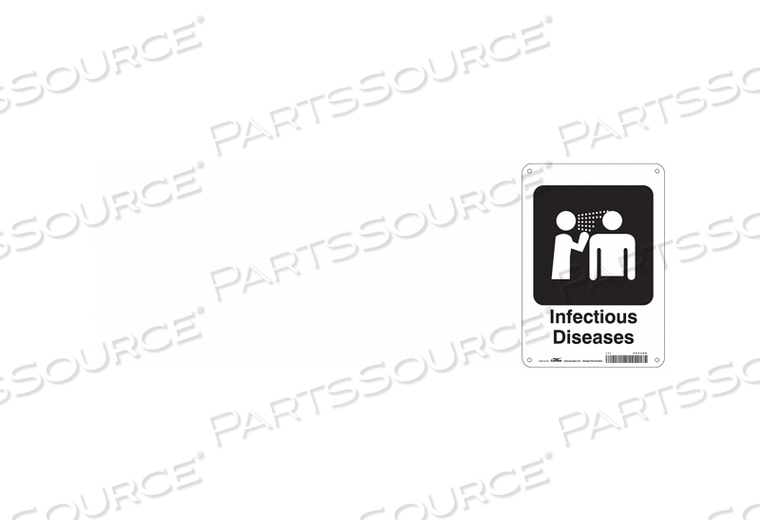 HOSPITAL SIGN 10 H X 7 W 0.032 THICK by Condor