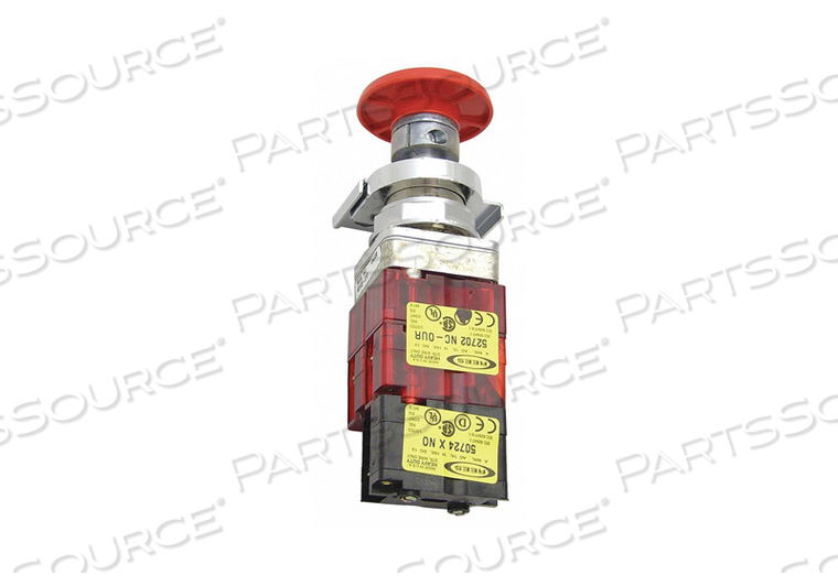 EMERGENCY STOP PUSH BUTTON DELRIN RED by Rees