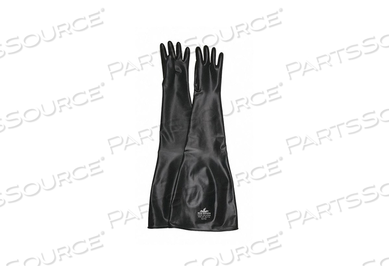 CHEMICAL RESISTANT GLOVES L SIZE BLK PR by MCR Safety