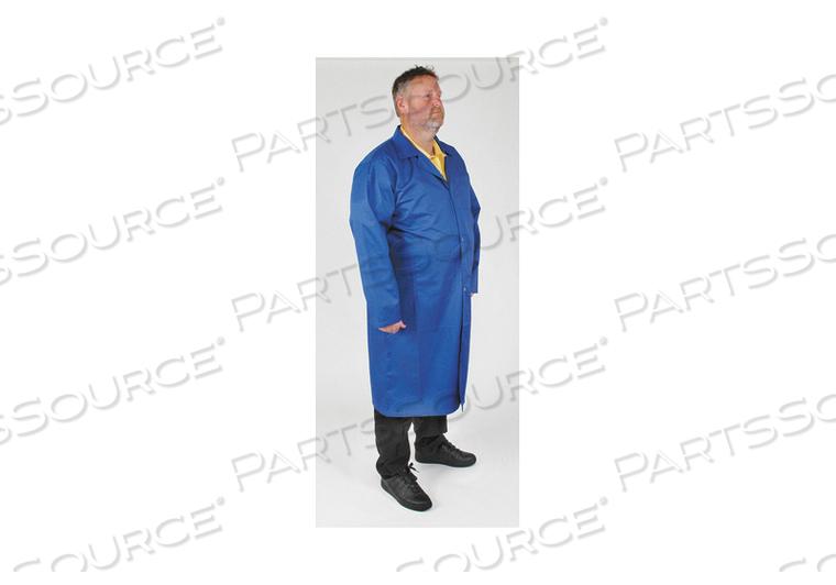 STATIC CNTRL CLLRD LAB COAT MALE XL BLUE by Condor
