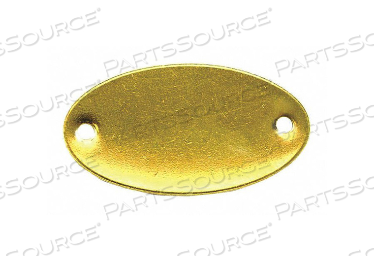 BLANK TAG 2 - 1/16 IN.W GOLD BRASS PK100 by C.H. Hanson