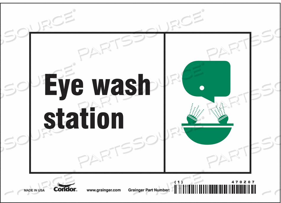 SAFETY SIGN 7 W X 5 H 0.004 THICK by Condor