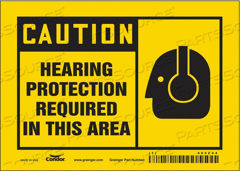 K2004 SAFETY SIGN 7 W 5 H 0.004 THICKNESS by Condor