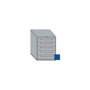 """30""""W MODULAR CABINET 5 DRAWERS NO DIVIDER, 38""""H, KEYED ALIKE LOCK-TEXTURED REGAL BLUE by Equipto"""