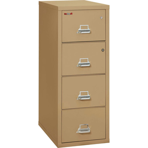 """FIREPROOF 4 DRAWER VERTICAL SAFE-IN-FILE LEGAL 20-13/16""""WX31-9/16""""DX52-3/4""""H SAND by Fire King"""