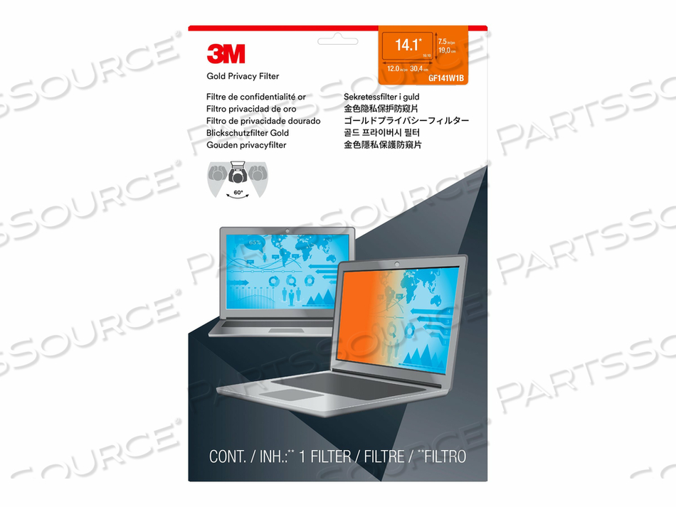 "3M GOLD PRIVACY FILTER FOR 14.1"" WIDESCREEN LAPTOP (16:10) - NOTEBOOK PRIVACY FILTER - 14.1"" WIDE - GOLD by 3M Consumer"