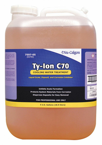 COOLING WATER TREATMENT TY-ION C70 5 GAL by Nu-Calgon