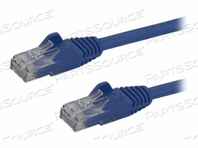 STARTECH.COM GIGABIT SNAGLESS RJ45 UTP CAT6 PATCH CABLE CORD - PATCH CABLE - RJ-45 (M) TO RJ-45 (M) - 15 FT - CAT 6 - SNAGLESS - BLUE by StarTech.com Ltd.
