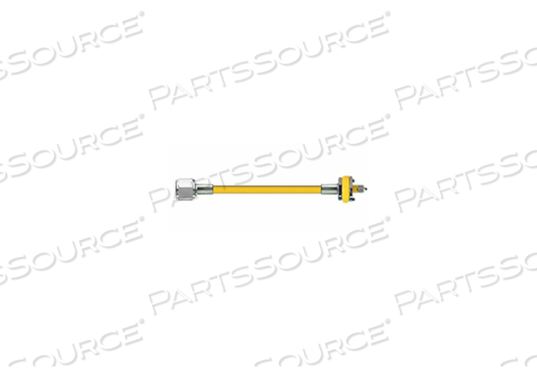 CONDUCTIVE HOSE ASSEMBLY, 1/4 IN OD, AIR, YELLOW, DISS HAND TIGHT X DISS MALE CONNECTION, 10 FT by Amvex (Ohio Medical, LLC)