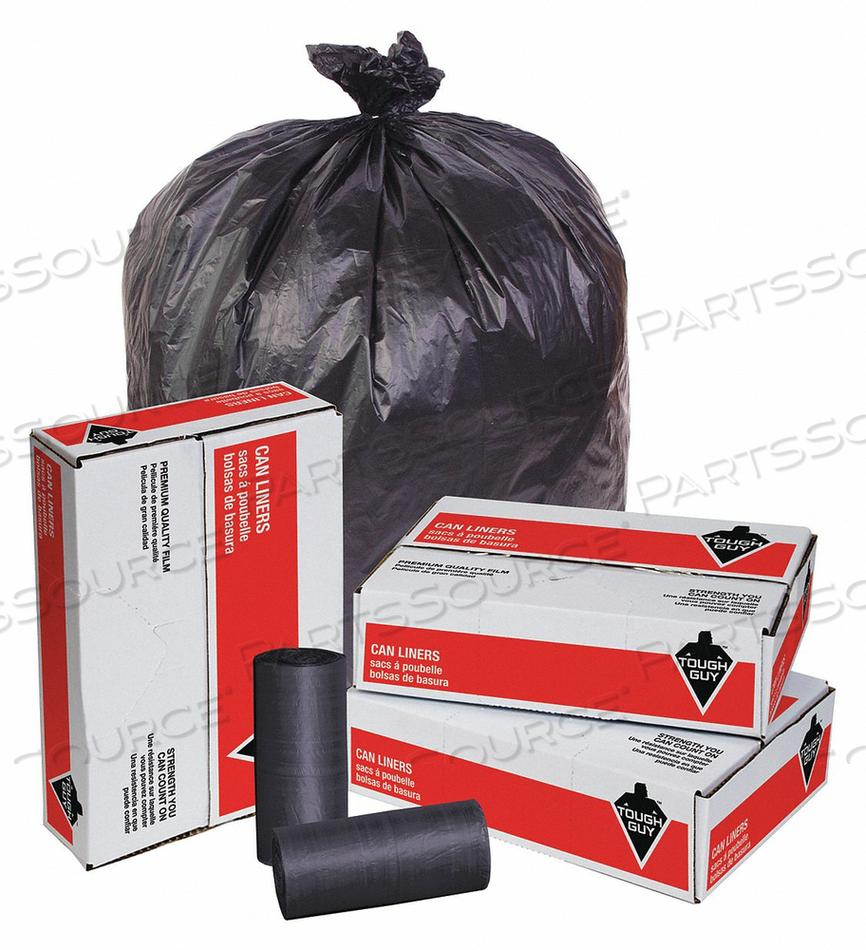 TRASH BAGS 60 GAL. BLACK PK150 by Tough Guy