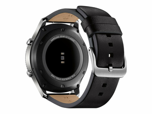 "SAMSUNG GEAR S3 CLASSIC - 46 MM - SILVER - SMART WATCH WITH BAND - LEATHER - BLACK - DISPLAY 1.3"" - 4 GB - WI-FI, NFC, BLUETOOTH - 4G - VERIZON WIRELESS - 2.22 OZ by Samsung Electronics"