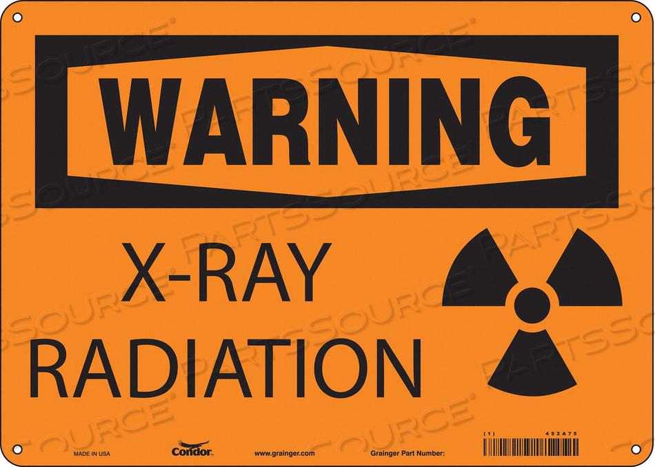 RADIATION SIGN WARNING HEADER 10 H by Condor