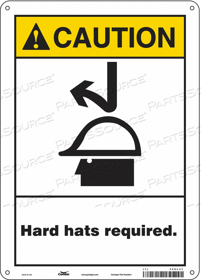 SAFETY SIGN PERSONAL PROTECTION 14 H by Condor