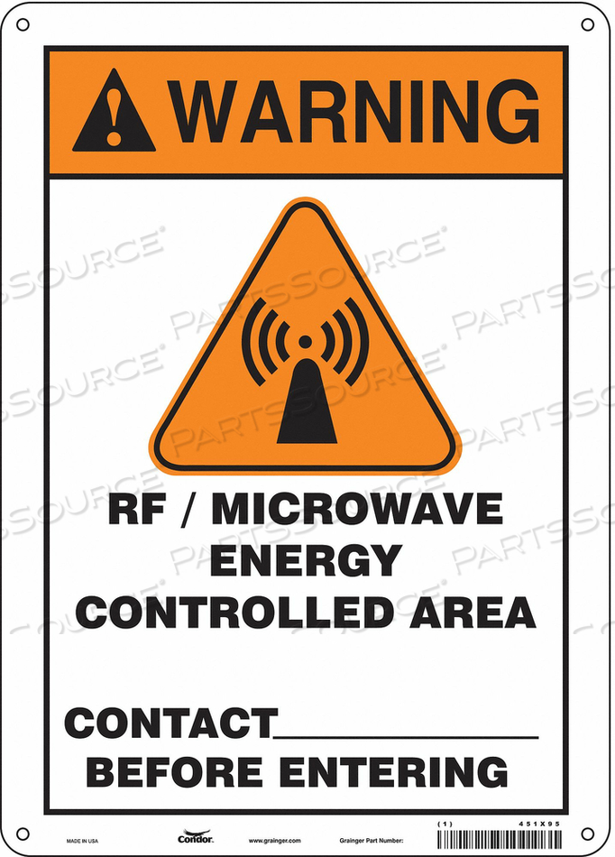 SIGN RADIOFREQUENCY/MICROWAVE 14 H by Condor