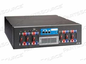 """EATON RACK POWER MODULE RPM-3U - POWER DISTRIBUTION UNIT ( RACK-MOUNTABLE ) - AC 208 V - 3-PHASE - RS-232 - INPUT: NEMA L21-30 - OUTPUT CONNECTORS: 6 ( NEMA L6-20 ) - 3U - 19"""" - 15 FT"""